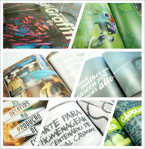 Revista Grafitte tem trabalho gráfico diferenciado