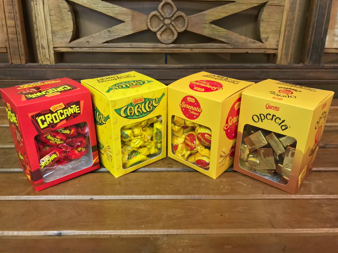 Novas Caixas para Chocolates Garoto